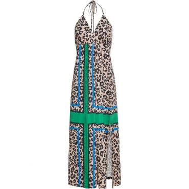 Maxi-Neckholder-Kleid ohne Ärmel  in beige für Damen von bonprix