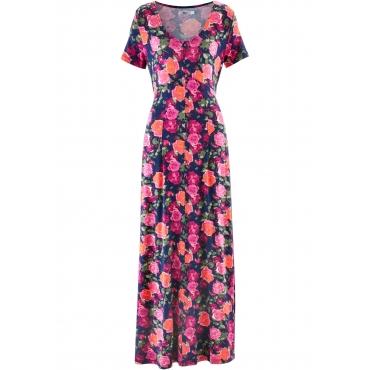 Maxi-Shirt-Kleid, Kurzarm in blau von bonprix