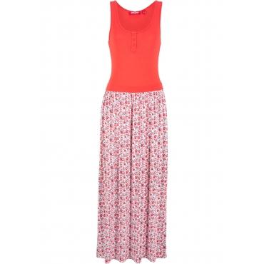 Maxi-Shirtkleid ohne Ärmel  in rot von bonprix