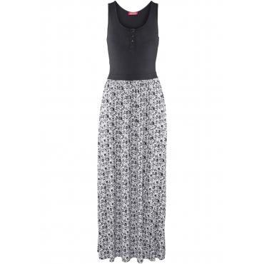 Maxi-Shirtkleid ohne Ärmel  in schwarz von bonprix