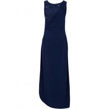Maxikleid ohne Ärmel  in blau (Rundhals) für Damen von bonprix