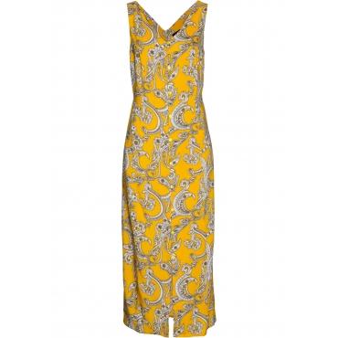 Maxikleid ohne Ärmel  in gelb (V-Ausschnitt) für Damen von bonprix