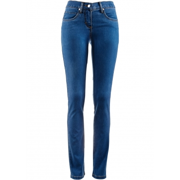 Megastretch-Jeans in blau für Damen von bonprix