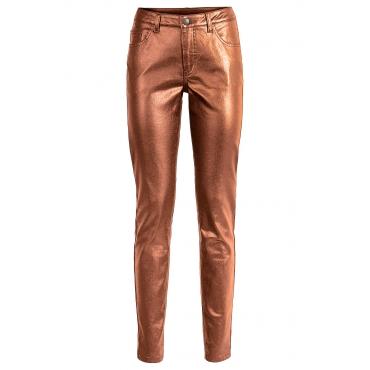 Metallic-Hose in braun für Damen von bonprix