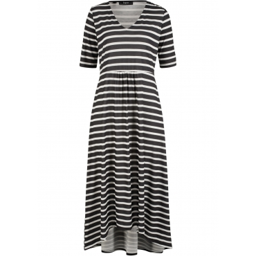 Midi- Kleid halber Arm  in schwarz von bonprix