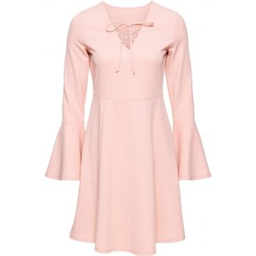 MUST HAVE: Kleid mit Schnürung in rosa von bonprix