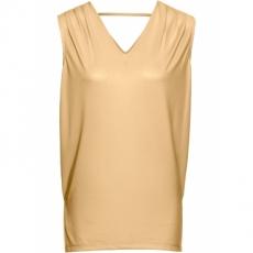 MUST HAVE: Longtop ohne Ärmel  in gold für Damen von bonprix