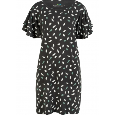 Nachhaltiges Jerseykleid aus TENCEL™ Lyocell kurzer Arm  in grau für Damen von bonprix