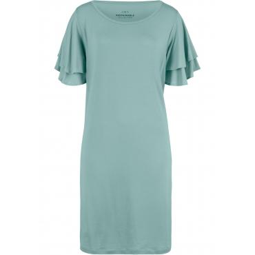 Nachhaltiges Jerseykleid aus TENCEL™ Lyocell kurzer Arm  in grün für Damen von bonprix