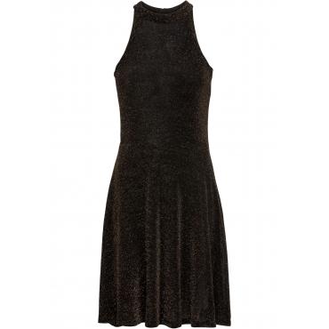 Neckholder-Kleid, Glitzer ohne Ärmel  in gold für Damen von bonprix