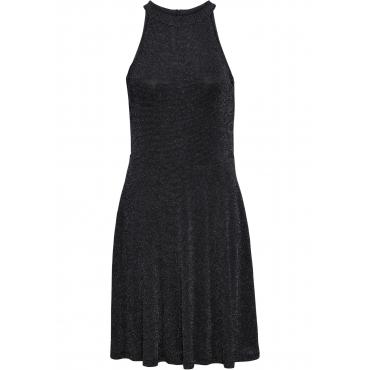 Neckholder-Kleid, Glitzer ohne Ärmel  in silber für Damen von bonprix