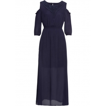 Off-Shoulder-Kleid mit Spitze halber Arm  in blau für Damen von bonprix