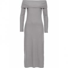 Offshoulder Kleid langarm  in grau von bonprix