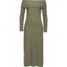 Offshoulder Kleid langarm  in grün von bonprix