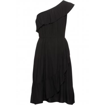 One-Shoulder-Kleid ohne Ärmel  in schwarz von bonprix