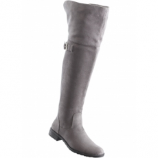 Overkneestiefel in grau für Damen von bonprix