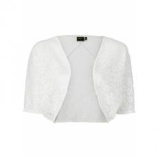 Oversize Bolero halber Arm  in weiß für Damen von bonprix
