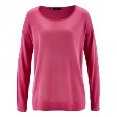 Oversize-Pullover langarm  in pink für Damen von bonprix