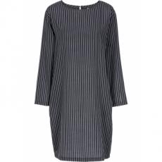 Oversized- Kleid mit Taschen langarm  in schwarz von bonprix