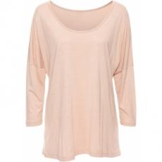 Oversized-Shirt mit Rückenprint langarm  in beige für Damen von bonprix
