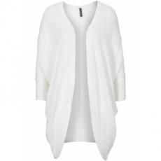 Oversized-Strickjacke langarm  in weiß für Damen von bonprix