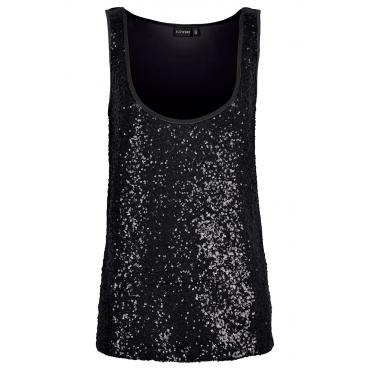 Pailletten-Top in schwarz für Damen von bonprix