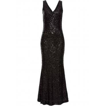 Paillettenkleid ohne Ärmel  in schwarz  von bonprix