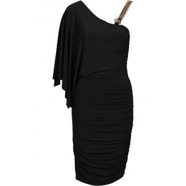 One-Shoulder-Kleid ohne Ärmel  in schwarz für Damen von bonprix