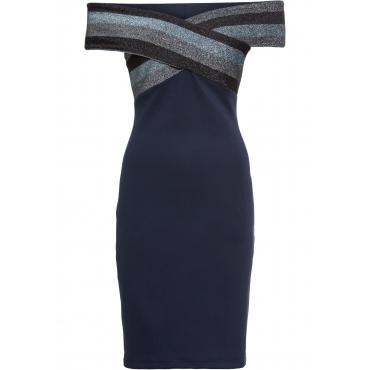 Partykleid ohne Ärmel  in blau (Carmen-Ausschnitt) von bonprix