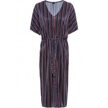 Plissee-Kleid 3/4 Arm  in blau für Damen von bonprix
