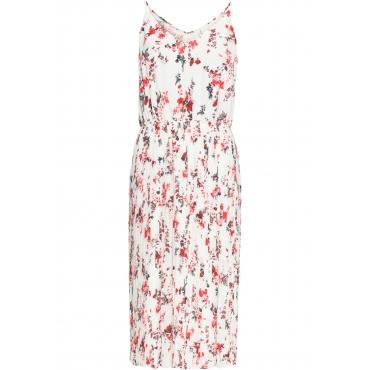 Plissee-Kleid ohne Ärmel  in weiß von bonprix