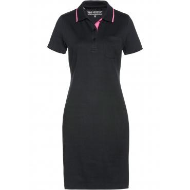Polo-Shirtkleid kurzer Arm  in schwarz für Damen von bonprix