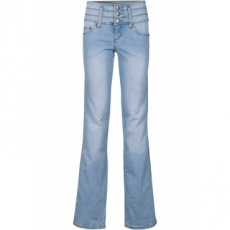 """Power-Stretch-Jeans """"Bauch-Beine-Po"""" im Bootcut in blau für Damen von bonprix"""