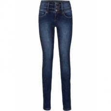 Power-Stretch-Jeans Bauch-Beine-Po, Slim in blau für Damen von bonprix