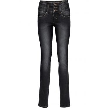 Power-Stretch-Jeans Bauch-Beine-Po, Slim in schwarz für Damen von bonprix