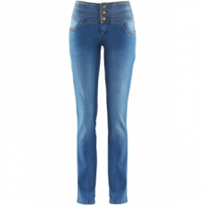 Power-Stretch-Jeans Bauch-Weg-Röhre in blau für Damen von bonprix