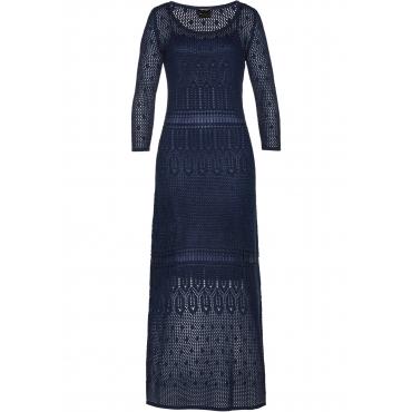 Premium Ajour-Kleid 3/4 Arm  in blau  von bonprix