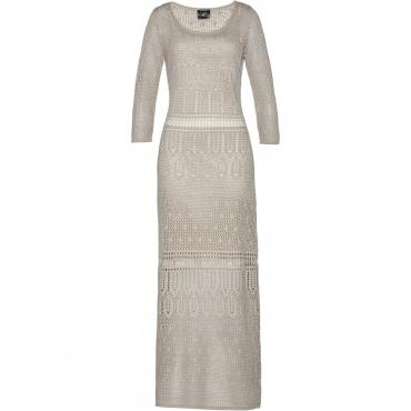 Premium Ajour-Kleid 3/4 Arm  in grau  von bonprix