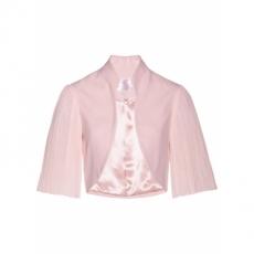 Premium Bolero mit Plissee-Ärmeln halber Arm  in rosa für Damen von bonprix