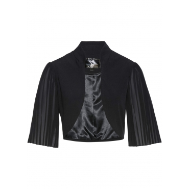 Premium Bolero mit Plissee-Ärmeln halber Arm  in schwarz für Damen von bonprix