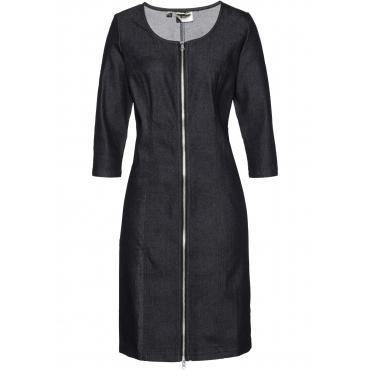 Premium Jeanskleid 3/4 Arm  in schwarz von bonprix