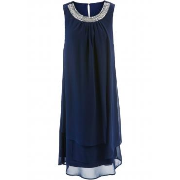Premium Kleid mit Applikation ohne Ärmel  in blau  von bonprix