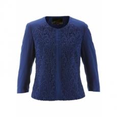 Premium Kurz-Blazer mit Spitze 3/4 Arm  in blau für Damen von bonprix