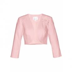 Premium Leinen-Bolero mit Applikation 3/4 Arm  in rosa für Damen von bonprix
