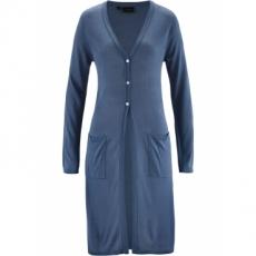 Premium Longstrickjacke langarm  in blau für Damen von bonprix