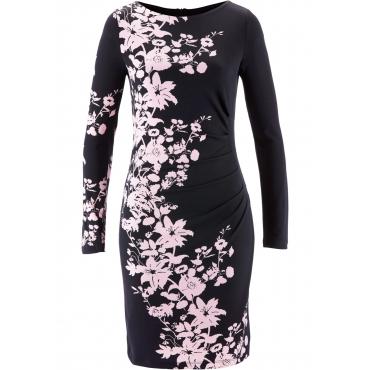Premium Shape-Shirtkleid langarm  in schwarz  von bonprix