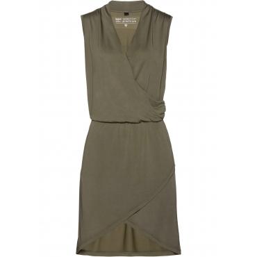 Premium Shirtkleid in Modal-Qualität ohne Ärmel  in grün für Damen von bonprix