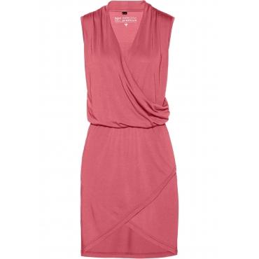 Premium Shirtkleid in Modal-Qualität ohne Ärmel  in pink für Damen von bonprix