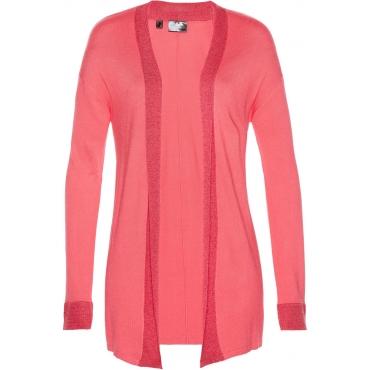 Premium Strickjacke mit Lurex langarm  in pink für Damen von bonprix