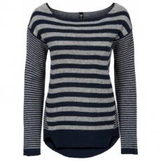 Pullover im coolen Streifendesign langarm  in blau für Damen von bonprix